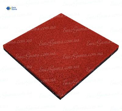 Резиновая плита 500х500, толщина 25 мм